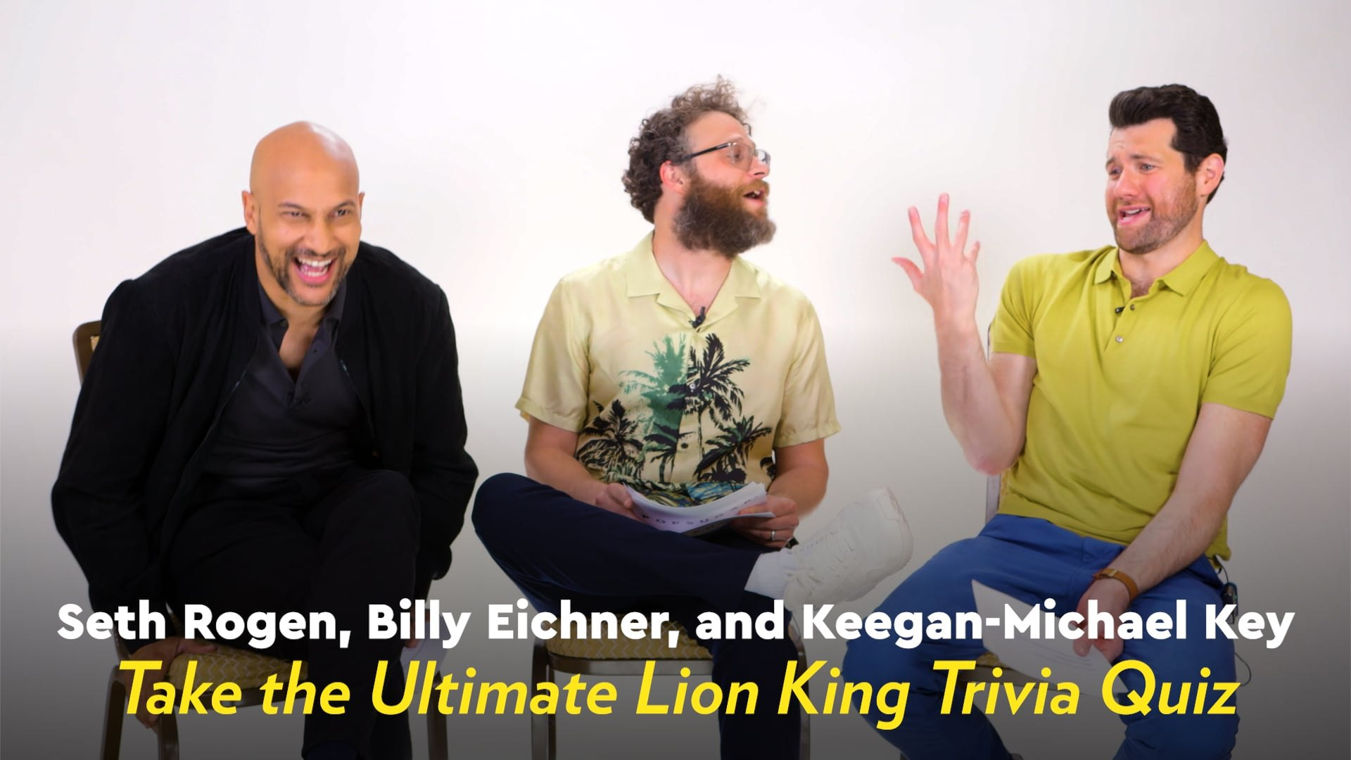 Seth Rogen Billy Eicher And Keegan Michael Key Played Lion King Images, Photos, Reviews