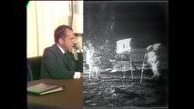 President Nixon talks to Apollo 11 astronauts on the moon
