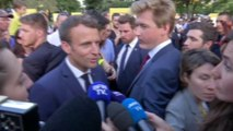 """Affaire Rugy: pour Emmanuel Macron, """"c'est bien que tout cela continue à se déblayer en transparence"""""""