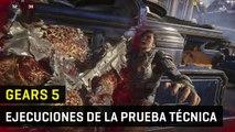 Gears 5 - todas las ejecuciones o fatalities de la prueba técnica