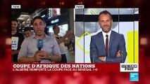 CAN-2019 : Célébrations et ambiance bon enfant sur les Champs-Elysées après la victoire de l'Algérie