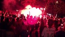 Scènes de joie à Montélimar après la victoire de l'Algérie à la CAN