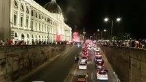 Gros embouteillage devant l'Hôtel-Dieu, à Lyon.