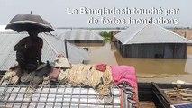 Fortes inondations au Bangladesh après les pluies de la mousson