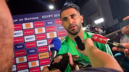 Réactions de Mahrez après avoir gagné la CAN