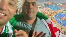 Supporters fous de joie apres le triomphe de l'Algérie !