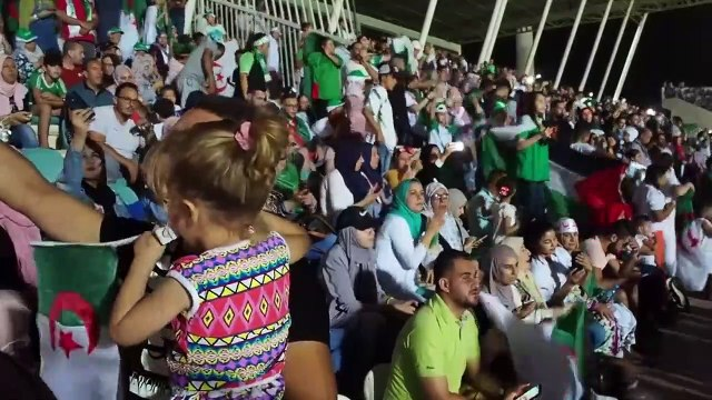 Algeria fans celebrate winning the Africa Cup of Nations