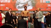 Manny Pacquiao tips the scales