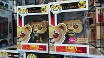 THE LION KING MOVIE SIMBA FLOCKED BOXLUNCH EXCLUSIVE VS COMMON FUNKO POP REVIEW