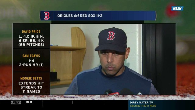 Alex Cora Says Red Sox Will 'Stick To The Program' After Ugly Loss To Orioles