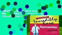 [MOST WISHED]  Medical Assisting Made Incredibly Easy: Pharmacology (Incredibly Easy! Series)