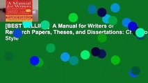 [BEST SELLING]  A Manual for Writers of Research Papers, Theses, and Dissertations: Chicago Style