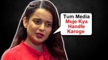 "Kangana Ranaut TAUNTS Media Calls ""Raah Chalta"" | Judgementall Hai Kya Controversy"
