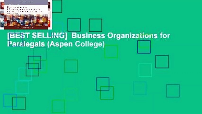 [BEST SELLING]  Business Organizations for Paralegals (Aspen College)