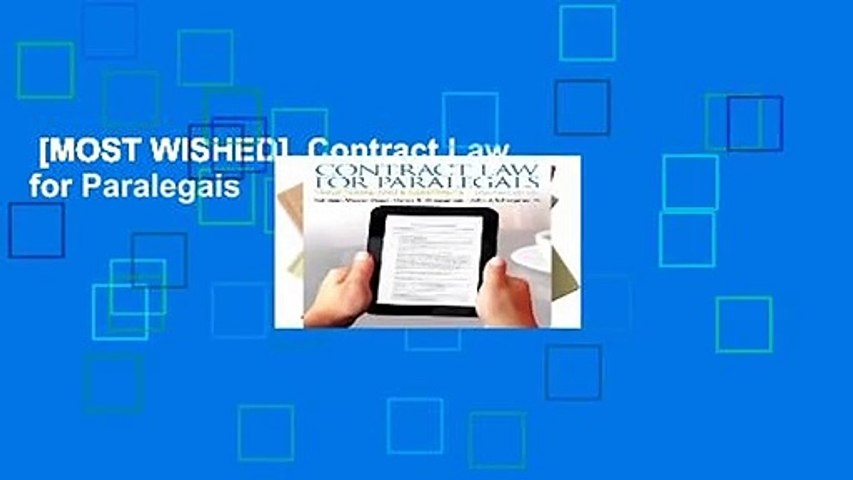 [MOST WISHED]  Contract Law for Paralegals