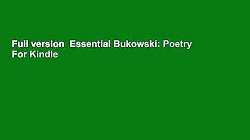 Full version  Essential Bukowski: Poetry  For Kindle