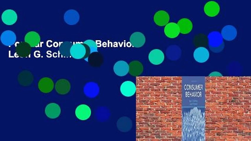 Popular Consumer Behavior - Leon G. Schiffman