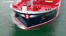 Irán afirma que el petrolero británico capturado chocó previamente con un pesquero