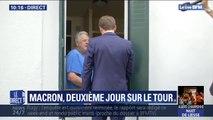 Emmanuel Macron va à la rencontre des Français  à Bagnères-de-Bigorre