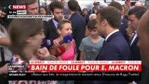 Emmanuel Macron recadre un passant qui fuit le débat