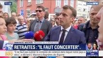 """Emmanuel Macron sur les retraites: """"Il faut concerter car les situations sont très différentes selon les secteurs"""""""