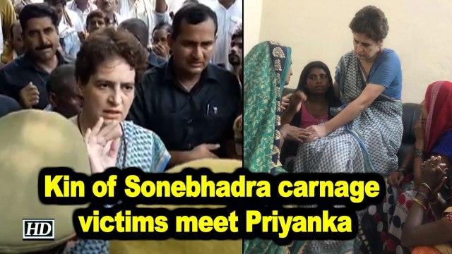 Kin of Sonebhadra carnage victims meet Priyanka in Chunar