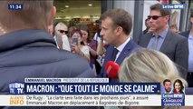"""Emmanuel Macron sur les violences policières: """"Il faut que tout le monde se calme"""""""
