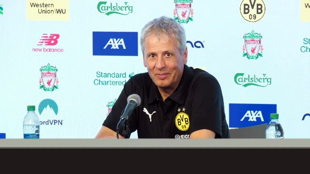 (Subtitled) 'We want to win every game' Lucien Favre after beating Liverpool 3-2