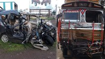 9 Students Die In Car Accident On Pune-solapur Highway