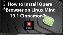 How to Install Opera Browser on Linux Mint 19.1 Cinnamon?