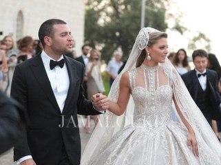 بالفيديو، أهم اللحظات من مراسم زفاف إيلي صعب جونيوروكريستينا مراد الرسمية