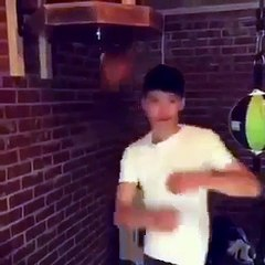 Young Lad s skills on the speed bag