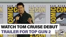 Watch Tom Cruise introduce the trailer for 'Top Gun: Maverick'