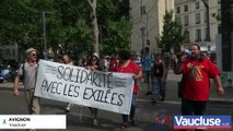 Avignon: ils manifestent en soutien aux migrants
