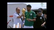 Arrivée des champions d'Afrique à Alger