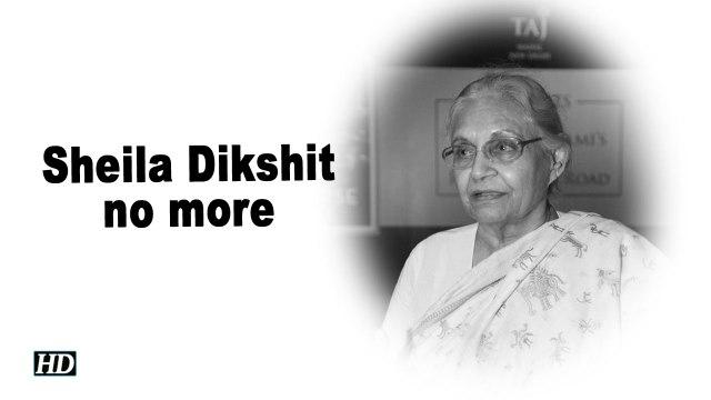 Former Delhi CM Sheila Dikshit dead
