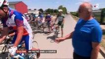 Cyclisme : un prêtre dans le peloton de course