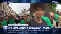 """Assa Traoré: """"3 ans après, on est encore là à demander vérité et justice"""" lors du rassemblement pour Adama Traoré"""