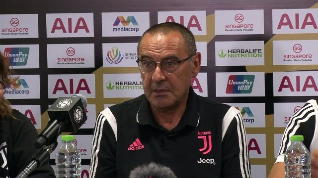 Juventus press conference ahead of their ICC match with Tottenham in Singapore
