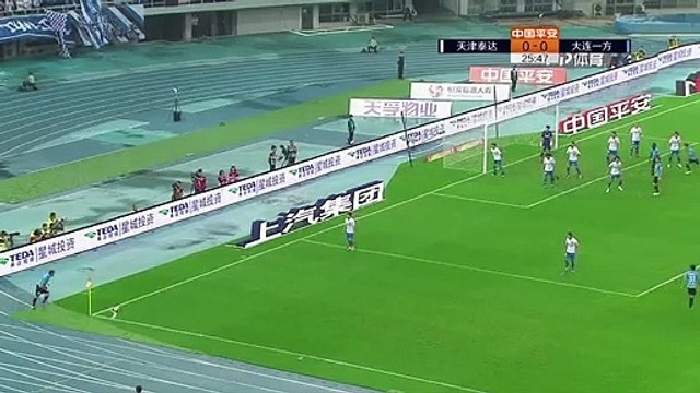 Carrasco scores directly from corner kick for Dalian Yifang