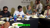 Manny Pacquiao Meal After Thurman Weigh In Meat Soup Rice Eggs Water