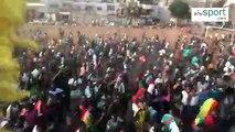 CAN 2019 - Liesse populaire à l'arrivée des Lions à Dakar