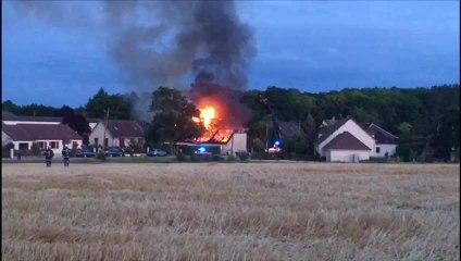 Incendie d'un pavillon à Ruvigny