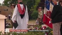 Première Guerre mondiale : sept soldats australiens enfin identifiés