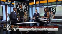Nick and Cris discuss if Kevin Durant should miss the 2019-2020 season _ NBA _ FIRST THINGS FIRST