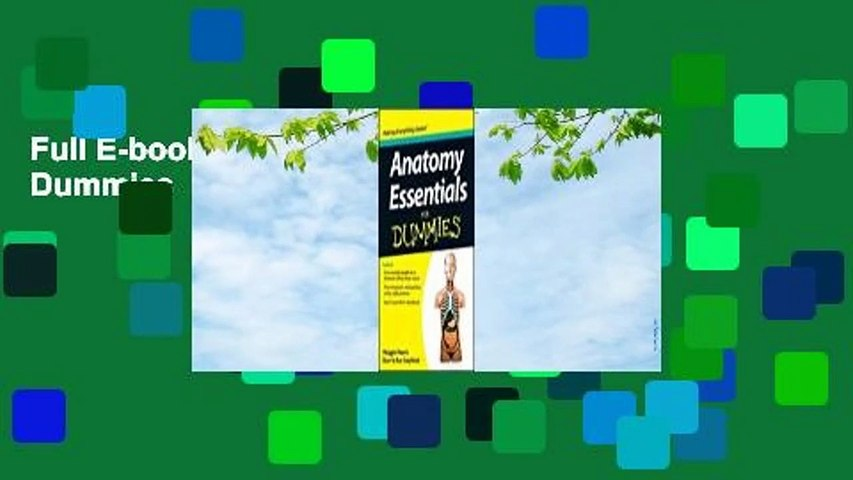 Full E-book Anatomy Essentials for Dummies  For Full