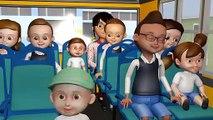 Las Ruedas del Autobús - Canciones para niños - Canciones infantiles para preescolar