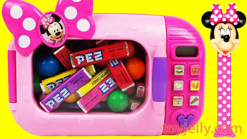 Microwave Just Like Home Pez Candy Surprise Toys Minnie Mouse Peppa Pig Play Doh Nursery Rhymes