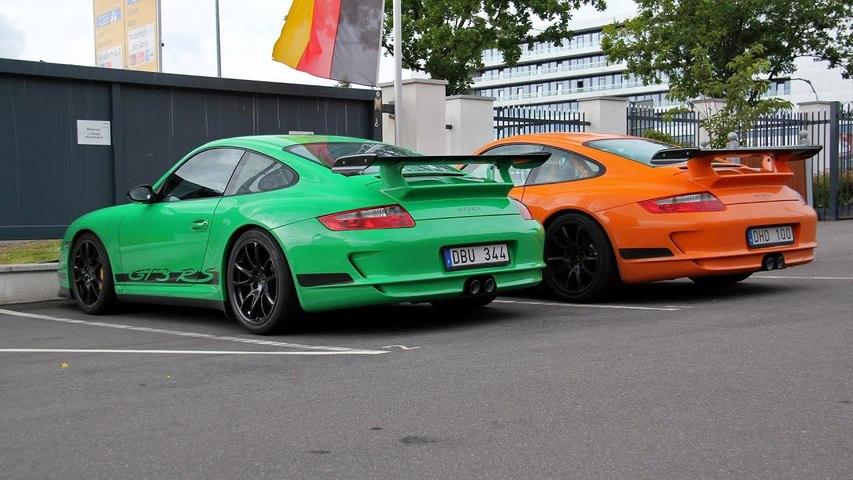 2x Porsche 997 GT3 RS - Green or Orange?