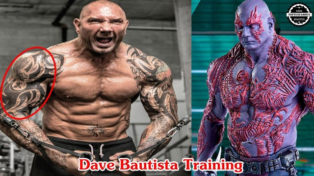 Superhero Drax Training for Avengers: Infinity War [Dave Bautista actor]